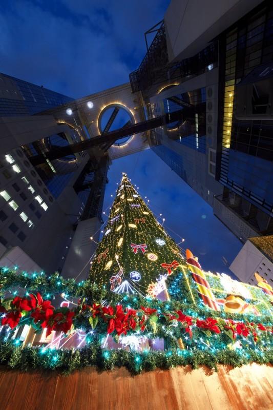 スカイビルとクリスマスツリー